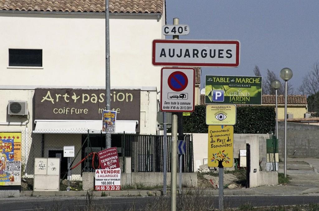 L'entrée d'Aujargues côté ZAC